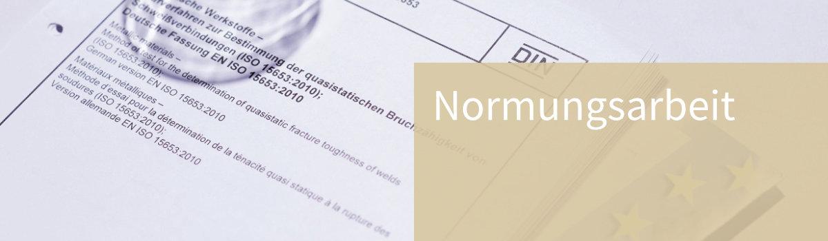 Unterlagen Normungsverfahren