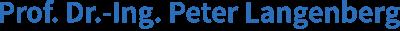 Prof. Dr. Peter Langenberg Logo
